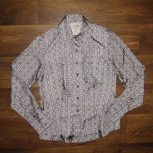 Ann Taylor Button Down Shirt Size Small 100% Silk